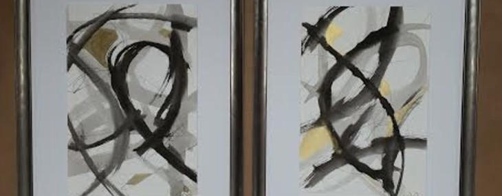 Framed Abstract Pair!