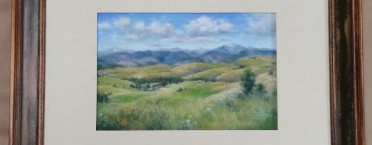 Framed Pastel Landscape!