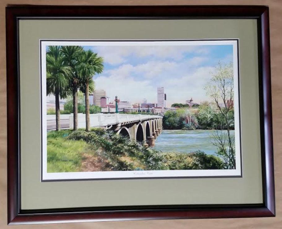 Gervais Street Bridge Print By Cherrie Nute Columbia