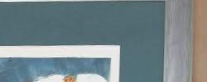 Framed Bettye Ackerman Jaffe Monotype!  Fantastic