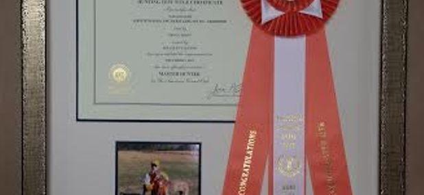 Framed Dog Show Ribbon and Award!