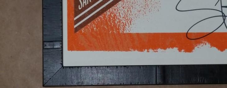 Framed Train Poster! Olive Wood Frame