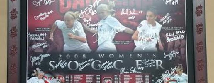 Framed Gamecock Soccer Poster! Gamecock Frame!