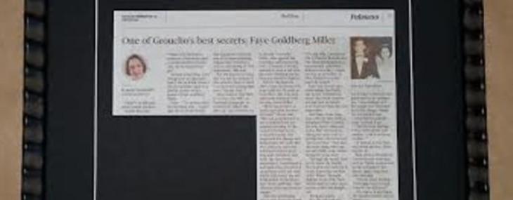 Framed Newspaper Articles!