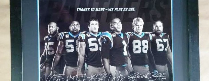 Framed Carolina Panthers Photograph!  Autographed!