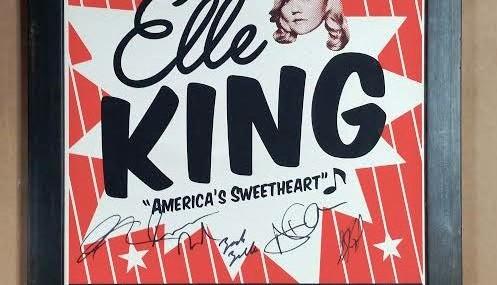 Framed Autographed Elle King Concert Poster!