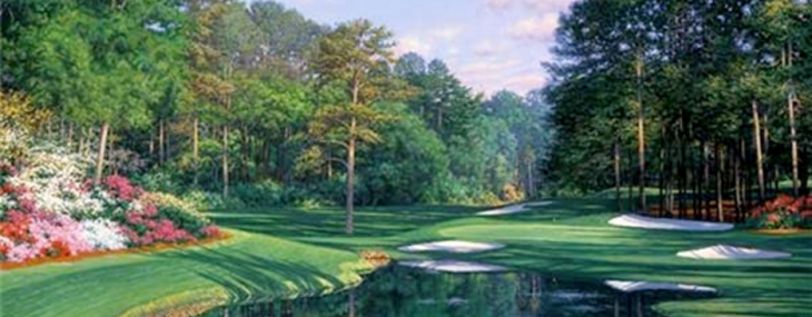 "Augusta #16! ""Morning at the 16th"" by Larry Dyke"