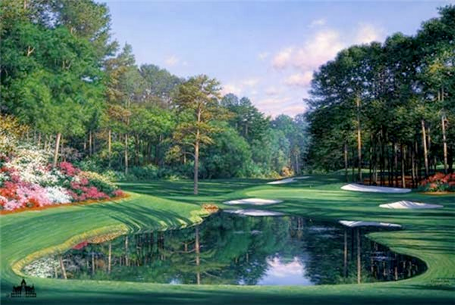 Augusta 16 Morning At The 16th By Larry Dyke