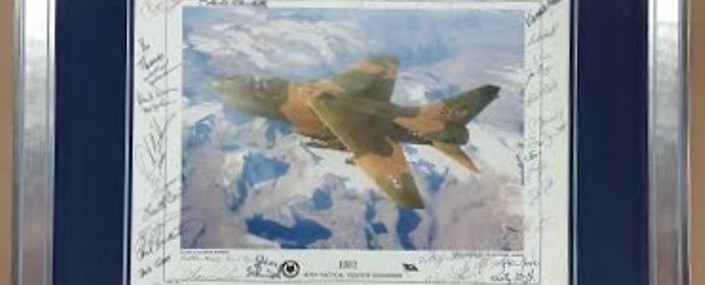 Framed Fighter Jet Photo! Signed by the Fighter Pilots!