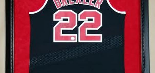 "Framed Clyde ""The Glide"" Drexler Jersey!"