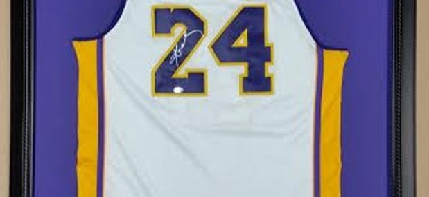 Framed Kobe Bryant Basketball Jersey!  Autographed!  Made in the USA!