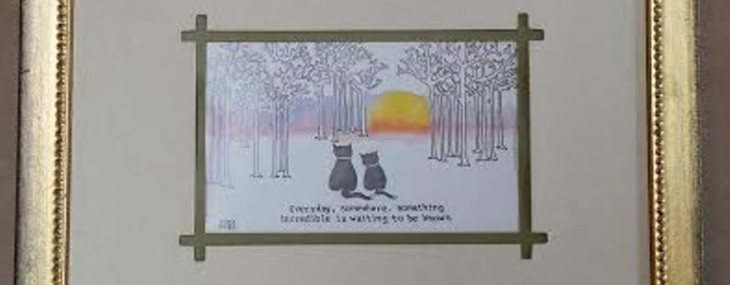 Framed Inspirational Cartoon!