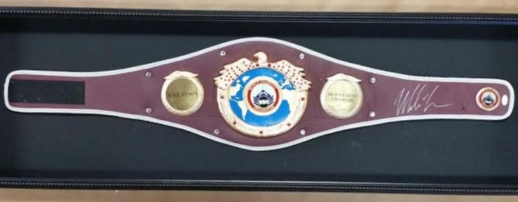 Shadowbox! Boxing Belt Autographed by Mike Tyson!
