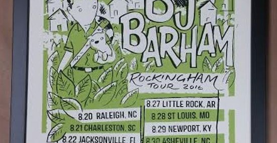 Framed BJ Barham Poster!  Autographed!