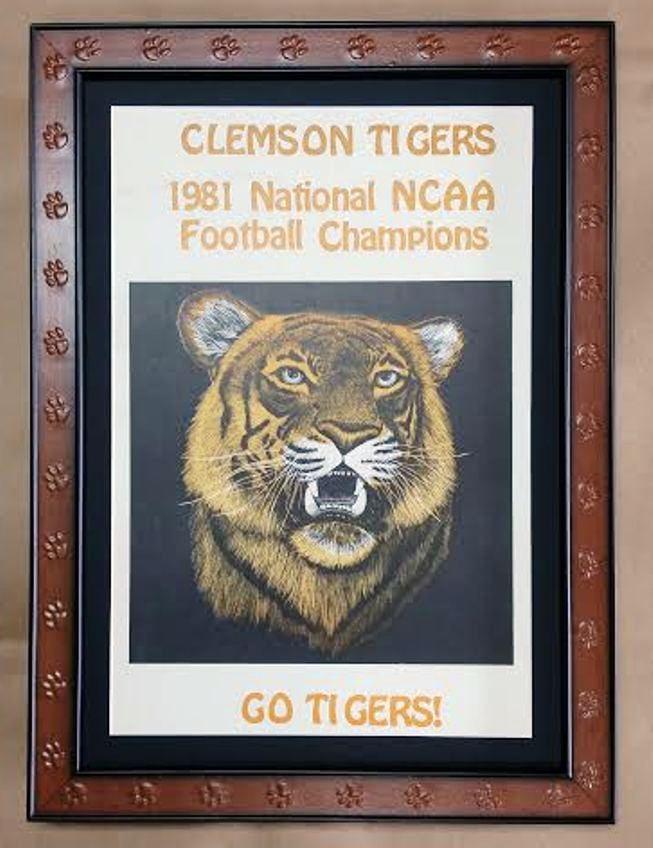 Frame Vintage Clemson Poster! Clemson Paw Frame! – Columbia Frame Shop