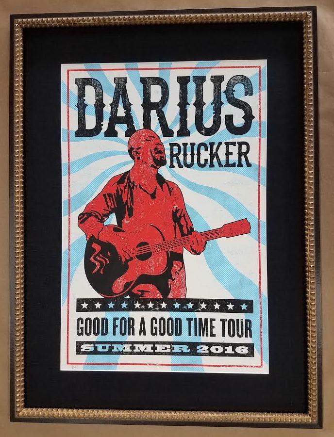 Cool Frame!! Excellently Framed Concert Poster! – Columbia Frame Shop