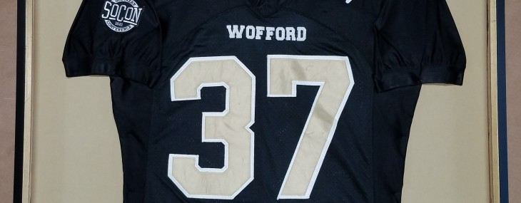 Framed Wofford Football Jersey!