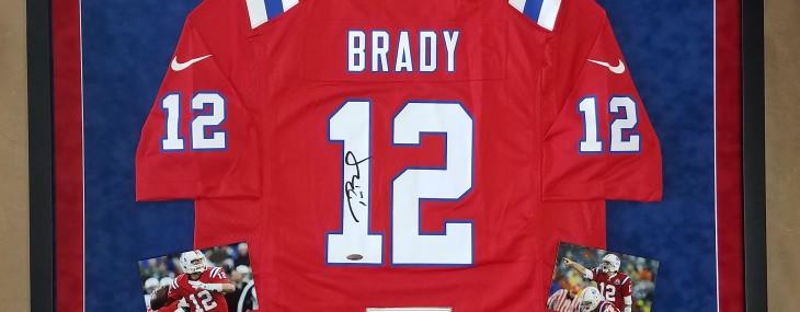 Framed Tom Brady Autographed Jersey!