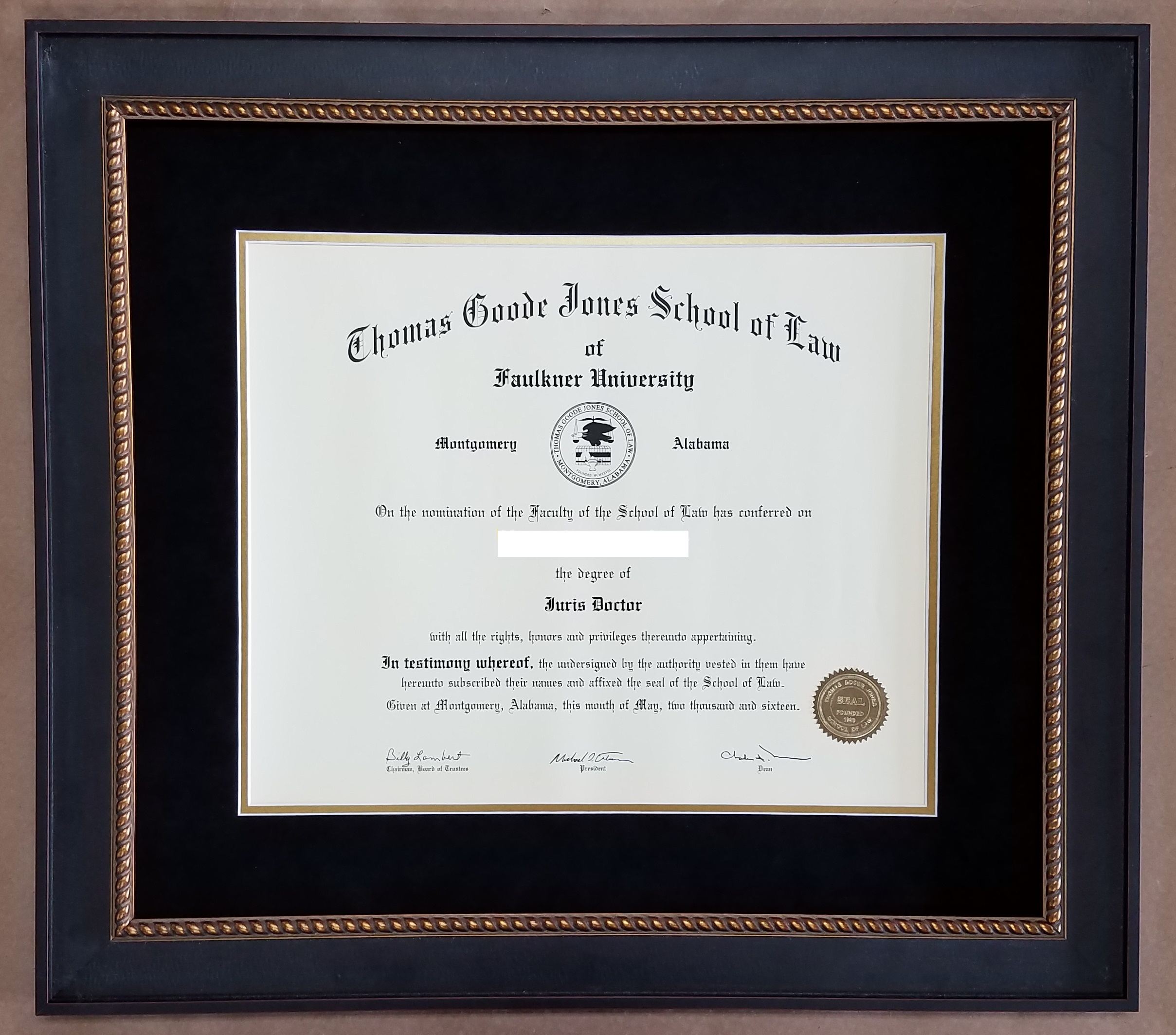 Diploma Frame – Columbia Frame Shop