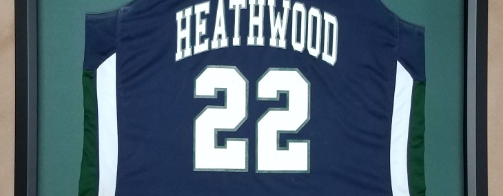 Framed Basketball Jersey! Heathwood Hall