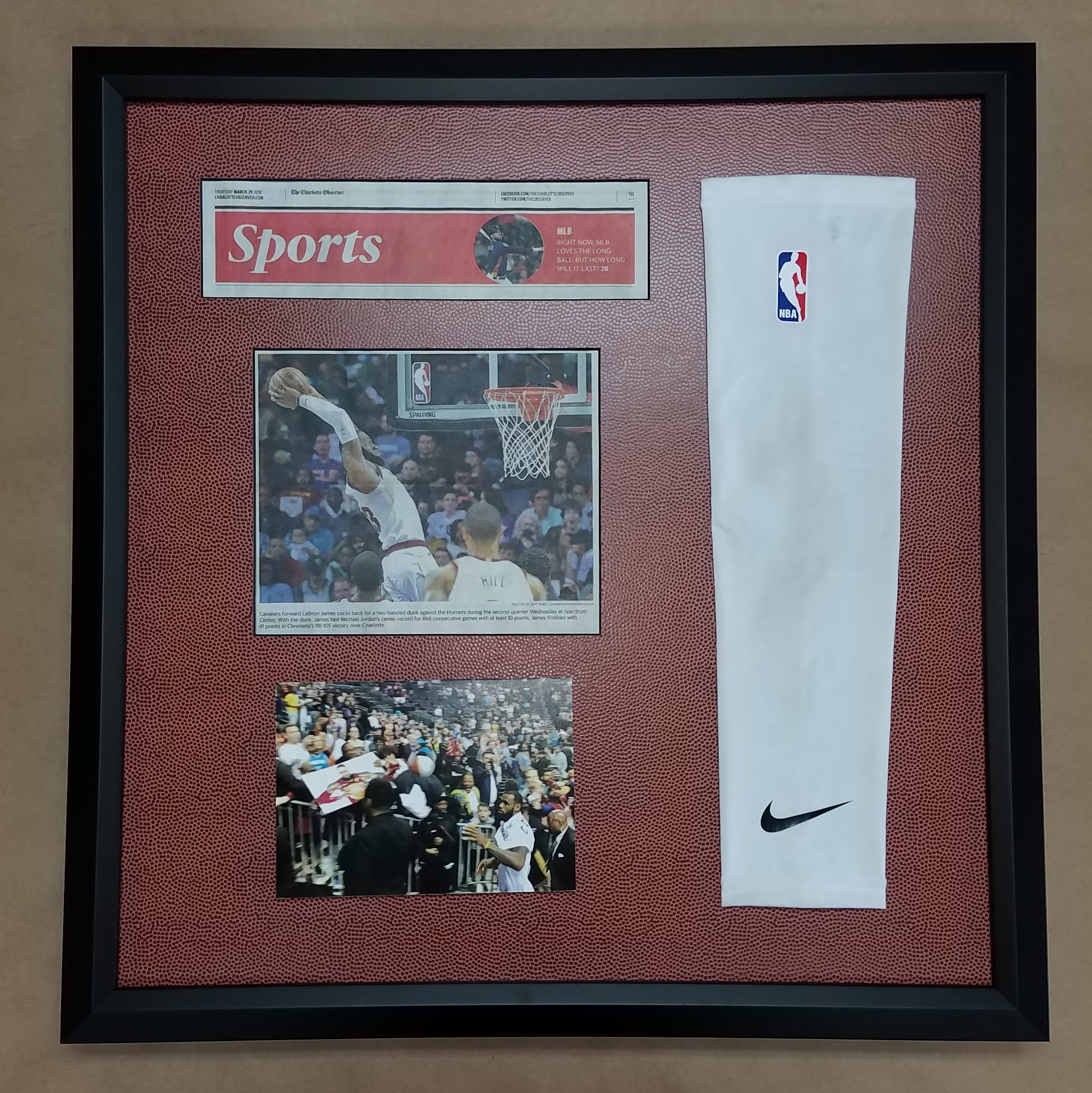 Columbia frame shop quality custom picture framing filed under display case framed sports memorabilia of the day tagged with framed basketball jersey sports memorabilia solutioingenieria Image collections