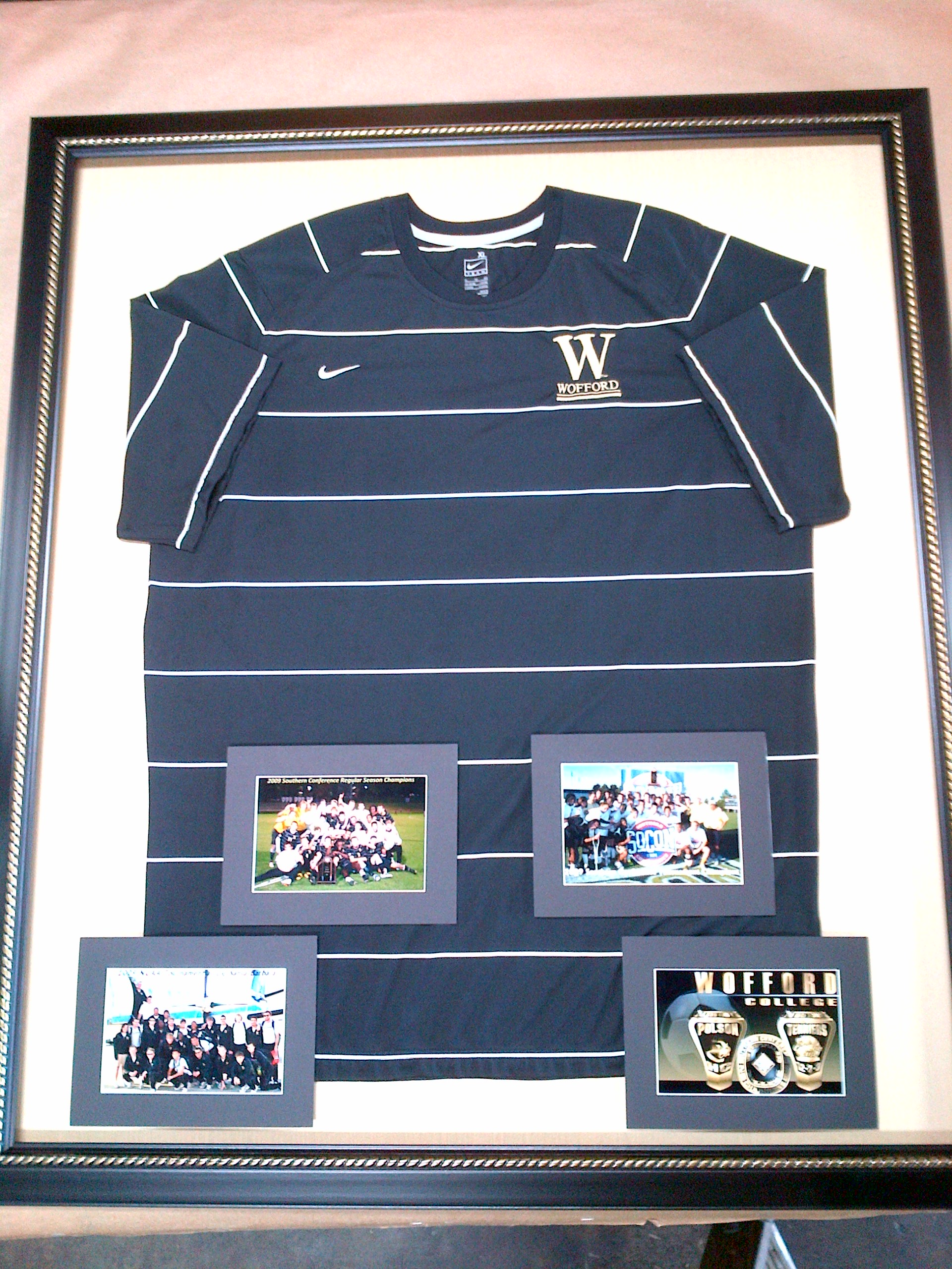 online store 64a57 48702 Custom Framed Wofford College Soccer Jersey – Columbia Frame ...