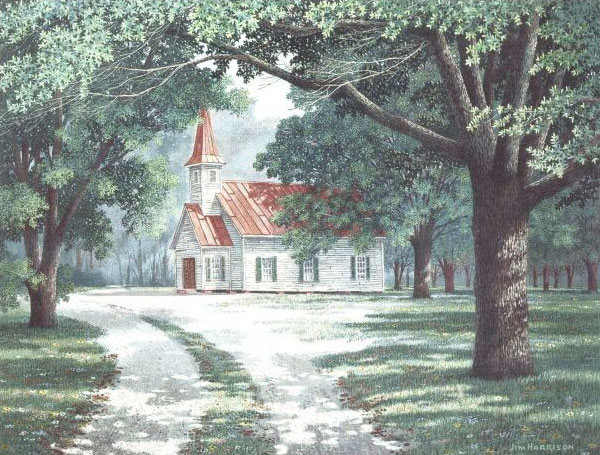 Jim Harrison Church In The Woods Columbia Frame Shop