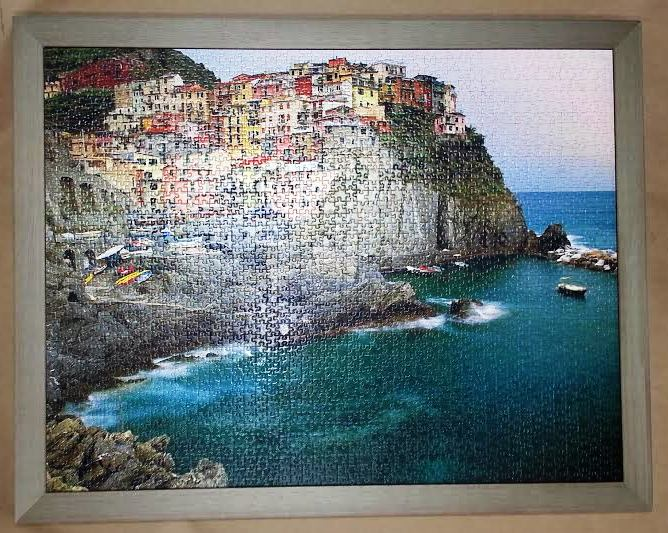 Framed Puzzle Columbia Frame Shop