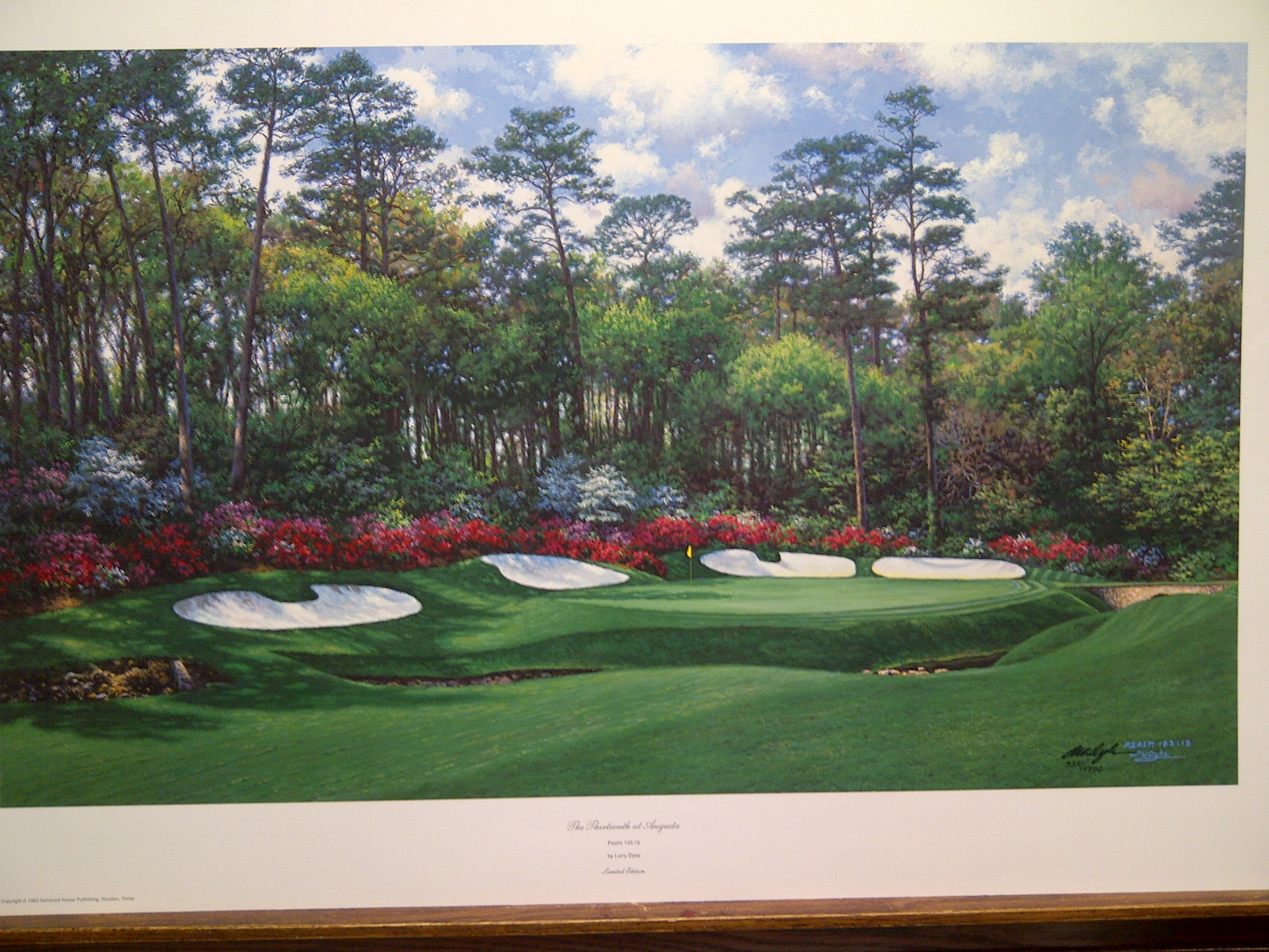 13 At Augusta By Larry Dyke Columbia Frame Shop