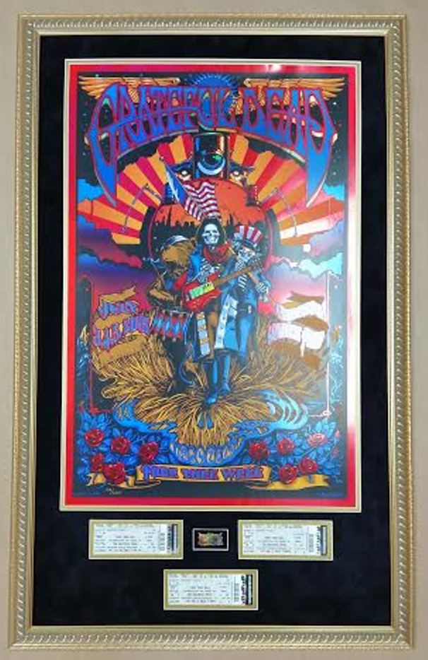 Framed Grateful Dead Fare Thee Well Poster Columbia