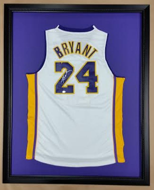 Framed Kobe Bryant Basketball Jersey! Autographed! Made in the USA ...