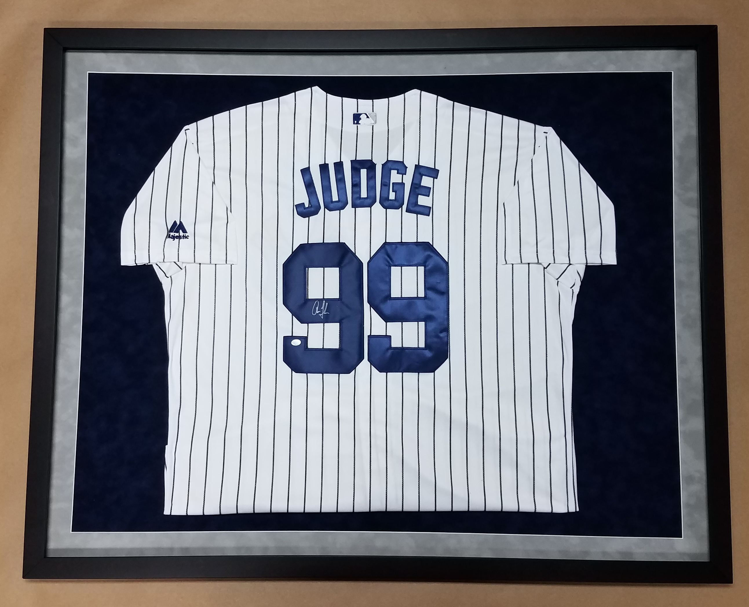 aefc14738 Framed Aaron Judge New York Yankees Jersey! Autographed! – Columbia ...